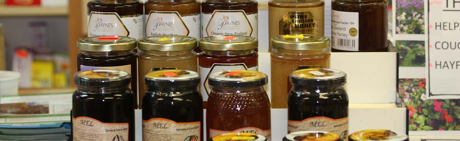 Pure honey jars